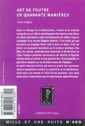 Art De Foutre En Quarante Manieres - 4ème de couverture - Format classique