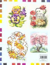Les Fleurs A L'Aquarelle - 4ème de couverture - Format classique