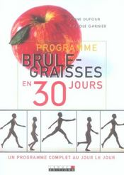 Programme brule-graisses en 30 jours - Intérieur - Format classique