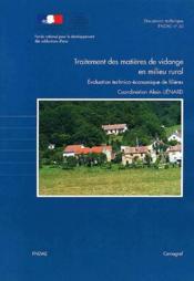 Traitement des matieres de vidange en milieu rural. evaluation technico-economique des filieres. doc - Couverture - Format classique