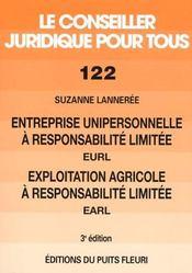 Entreprise unipersonnelle a responsabilite limitee eurl, exploitation a responsabilite limitee earl. - Intérieur - Format classique