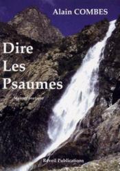 Dire les psaumes ; manuel pratique - Couverture - Format classique