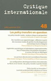 Vente livre :  Revue critique internationale N.48 ; les policy transfers : innovations et circulation de modèles de professionnalisation  - Revue Critique Internationale