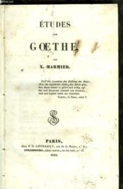 Etudes De Goethe - Couverture - Format classique