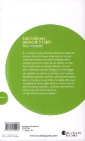 Les héritiers passent à table - 4ème de couverture - Format classique