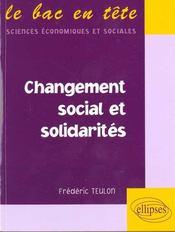 Changement Social Et Solidarites - Intérieur - Format classique