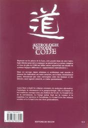 Astrologie Chinoise Code - 4ème de couverture - Format classique