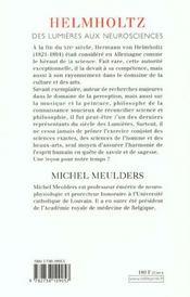 Helmholtz - 4ème de couverture - Format classique