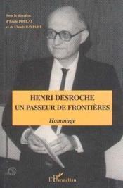 Henri Desroche un passeur de frontières - Couverture - Format classique
