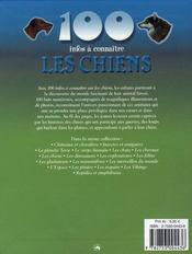100 Infos A Connaitre ; Les Chiens - 4ème de couverture - Format classique