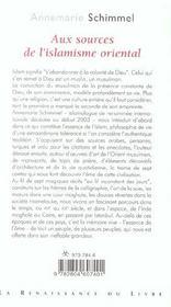 Aux Sources De L'Islam Oriental - 4ème de couverture - Format classique
