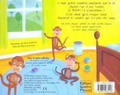 Huit petits ouistitis - 4ème de couverture - Format classique