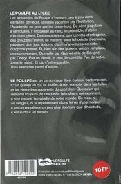 Le Poulpe Au Lycee - 4ème de couverture - Format classique