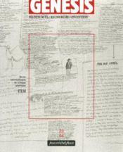 Genesis N.23 ; Manuscrits, Recherche, Invention - Couverture - Format classique