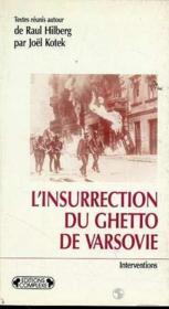 L'Insurrection Du Ghetto De Varsovie - Couverture - Format classique