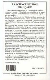 La Science-Fiction Francaise - 4ème de couverture - Format classique