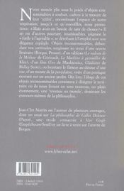 Eloge De L'Inconsommable - 4ème de couverture - Format classique