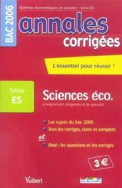 Annales Corrigees T.21 (édition 2006) - Intérieur - Format classique
