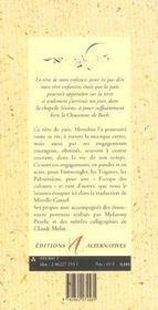 Le Violon De La Paix - 4ème de couverture - Format classique