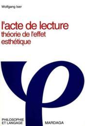 Acte De Lecture 2eme Edition - Couverture - Format classique