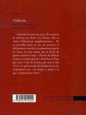 Chibanis - 4ème de couverture - Format classique