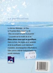 La Purification - 4ème de couverture - Format classique