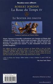 Le sentier des dagues - 4ème de couverture - Format classique