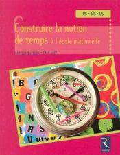 Construire la notion de temps à l'école maternelle - Intérieur - Format classique