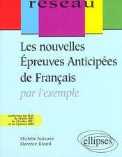 Les Nouvelles Epreuves Anticipees De Francais Par L'Exemple 2e Edition - Intérieur - Format classique