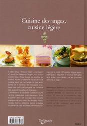 Cuisine des anges, cuisine légère - 4ème de couverture - Format classique