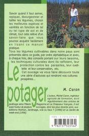 Le potager - 4ème de couverture - Format classique