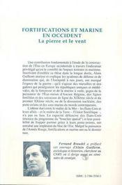 Fortifications Et Marine En Occident ; La Pierre Et Le Vent - 4ème de couverture - Format classique