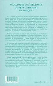 Marabouts Ou Marchands Du Developpement En Afrique - 4ème de couverture - Format classique