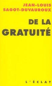 De La Gratuite - Intérieur - Format classique
