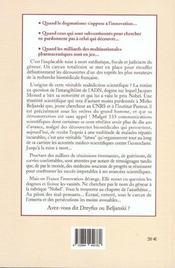 Mirko Beljanski ; Chronique D'Une Fatwa Scientifique - 4ème de couverture - Format classique
