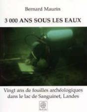3000 ans sous les eaux - Couverture - Format classique