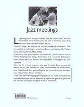 Jazz Meetings - 4ème de couverture - Format classique