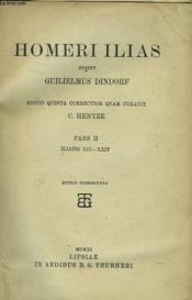 Homeri Ilias. Iliadis Xiii-Xxiv - Couverture - Format classique