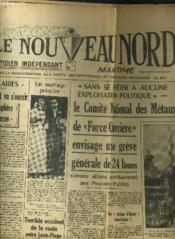 Le Nouveau Nord Maritime N° 897 - 5eme Annee - Mardi 27 Septembre 1949. - Couverture - Format classique