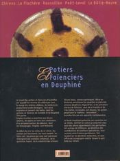 Potiers Et Faienciers En Dauphine - 4ème de couverture - Format classique