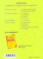 L'Ecrit Et L'Oral Du Bac Francais La Methode Par Les Exemples 1re - 4ème de couverture - Format classique
