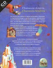 Chansons Douces Chansons Tendres - 4ème de couverture - Format classique