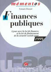 Finances Publiques 1999 - Intérieur - Format classique