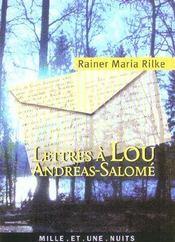 Lettres A Lou-Andreas Salome - Intérieur - Format classique