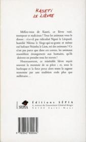 Kaseti Le Lievre Contes Du Zaire - 4ème de couverture - Format classique
