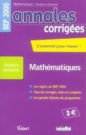 Annales corrigees t.23 ; mathematiques bep tertiaire - Intérieur - Format classique