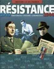 Ile-De-France:Resistance 1940 - Couverture - Format classique