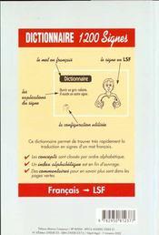 La langue des signes fançaise - 4ème de couverture - Format classique