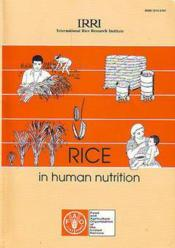 Rice in human nutrition n.26 - Couverture - Format classique
