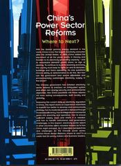 China's power sector reforms - 4ème de couverture - Format classique